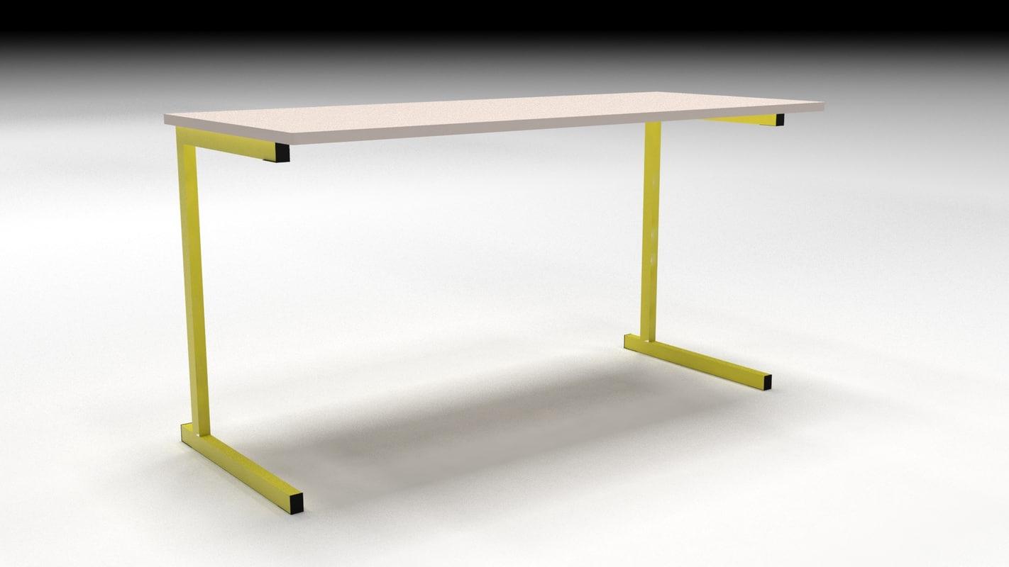 school table 3d model