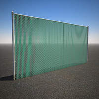 3d model tall chain link privacy