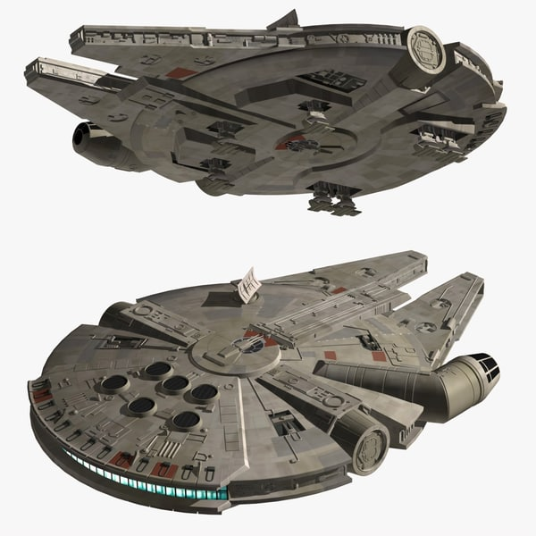 3d millennium falcon model