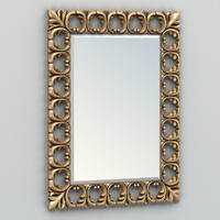 3d carved rectangle mirror frame model