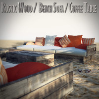Rustic Wood Beach Furniture