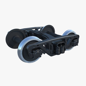 bogie 18-100 train wheel 3d model