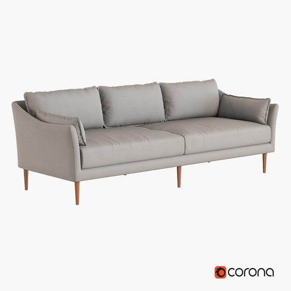 sofa west elm 3d max