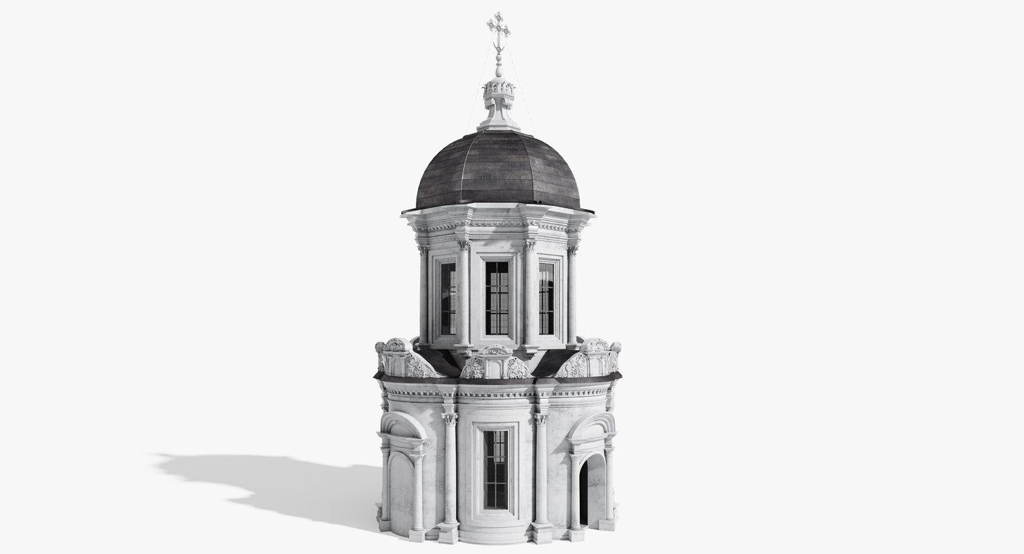 3d orthodox chapel model