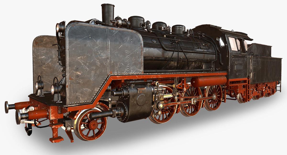 3d real time steam locomotive model