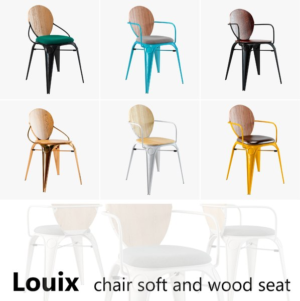 louix chair soft seat 3d 3ds