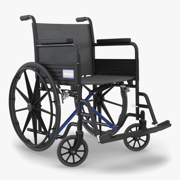 3d wheelchair generic rigged model