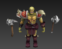 Orc Warrior Low Poly