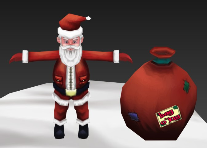 3d model of santa asset