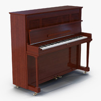 Upright Piano Rigged
