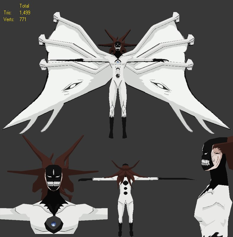 aizen bleach 3d model