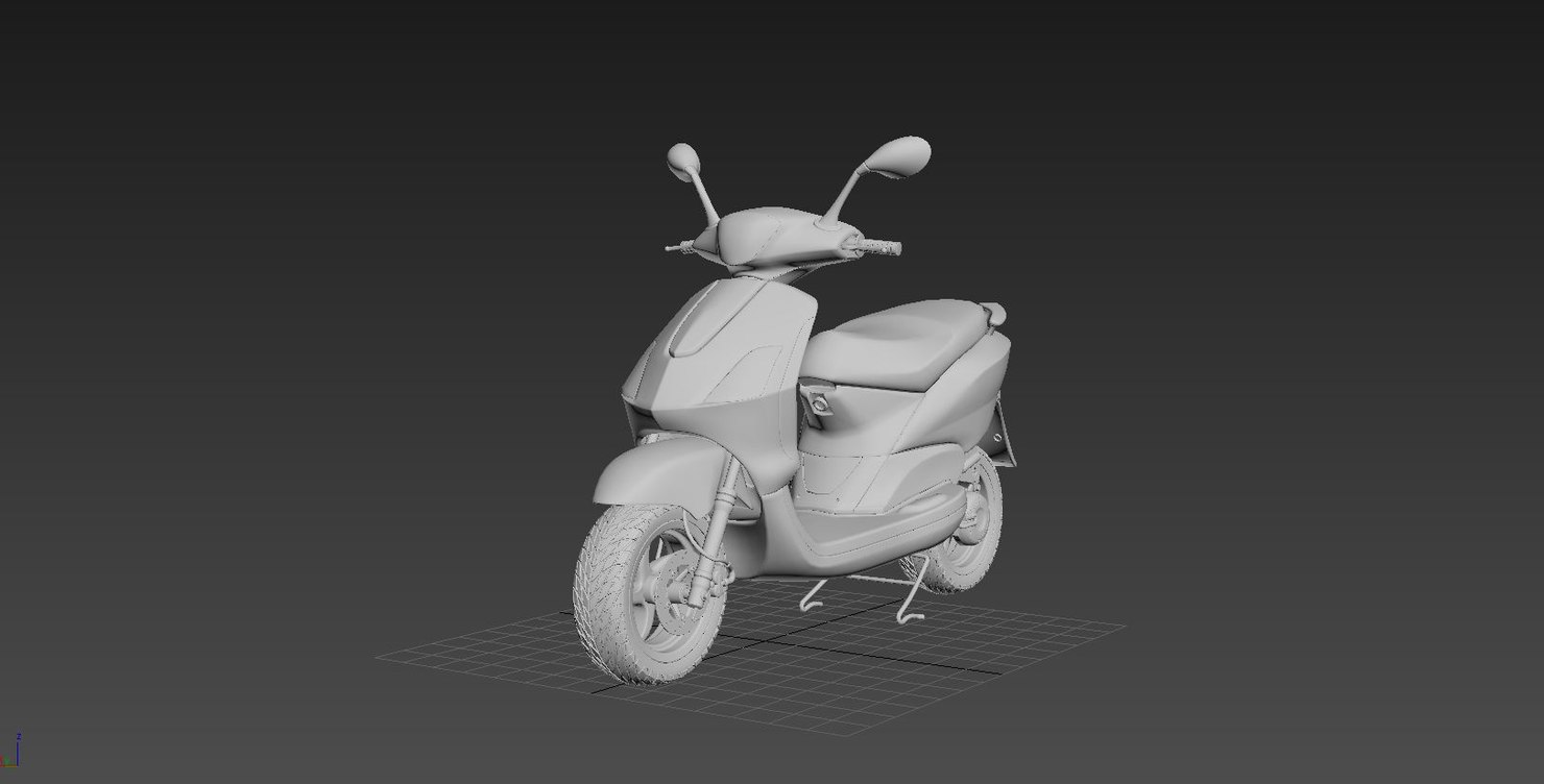 3d scooter bike