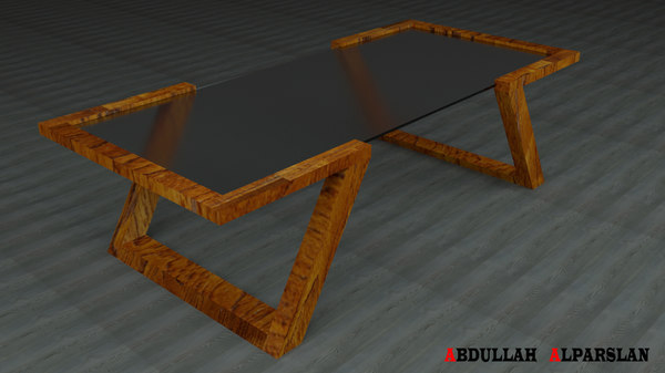 3d model of medium coffee table