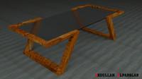 3d model of medium coffee table