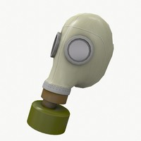 Gas mask low poly