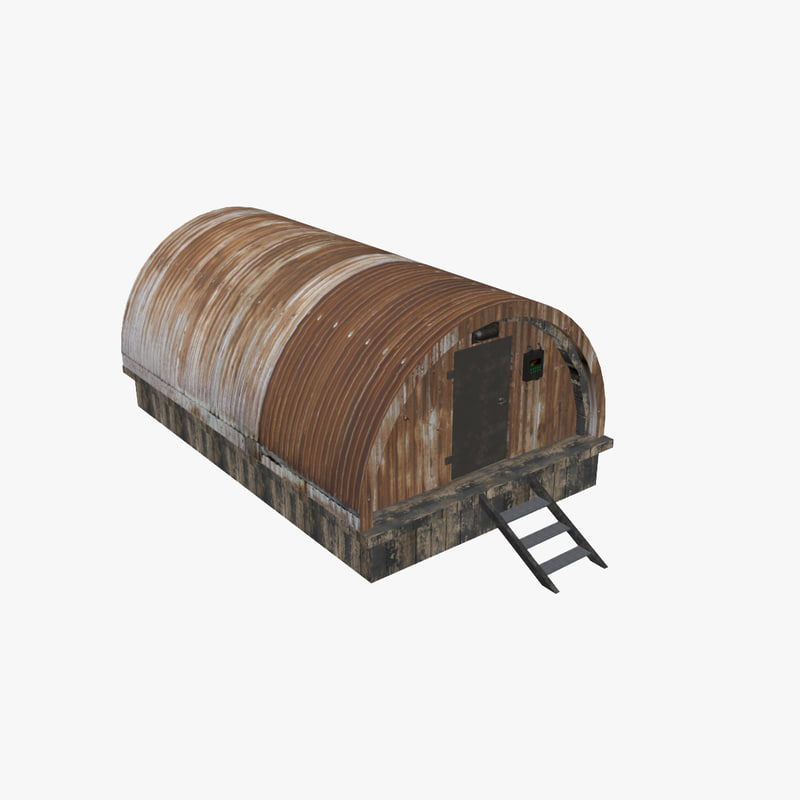 3d model of mini barack