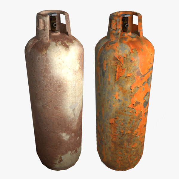3d oxygen tank model