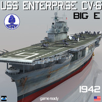 3ds uss enterprise cv-6 big