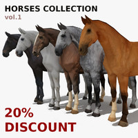 LowPoly Horses Collection vol.1