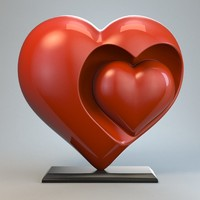 Heart Sculpture Love