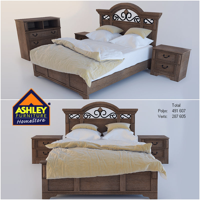 bed ashley 3d model