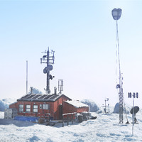 arctic station 3d max