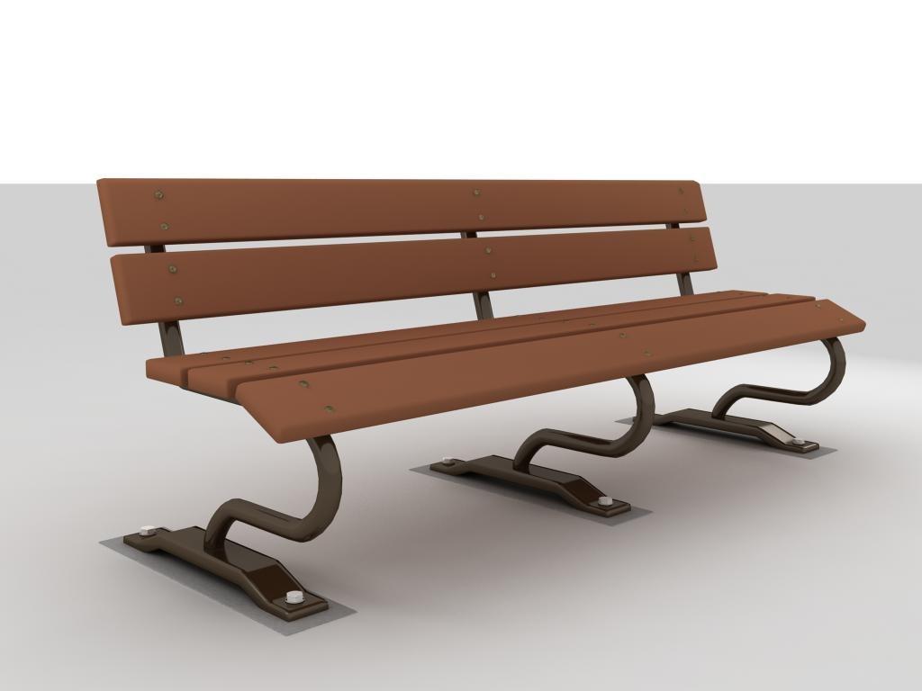 bench 3d max