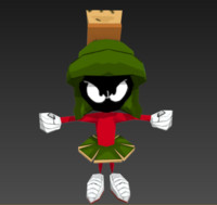 marvin martian 3d obj