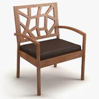 3d model chair baxton jennifer