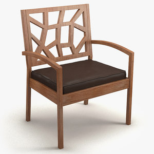 3d model chair baxton jennifer