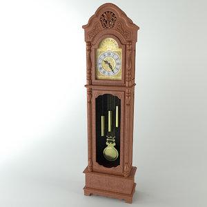3d model clock standing