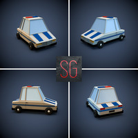 Low poly toon Police car