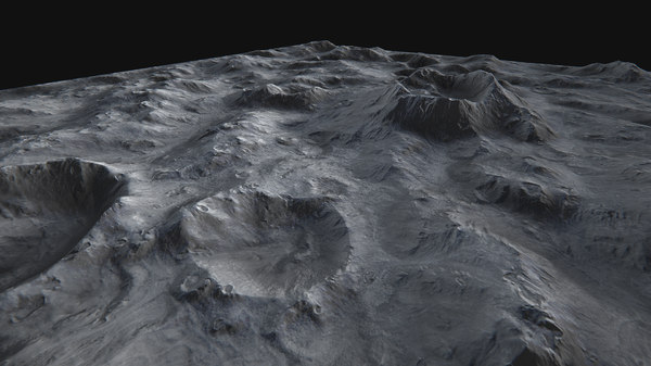 3d x moon surface