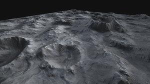 3d x moon surface