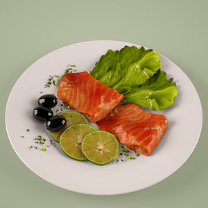 max fish salad plate