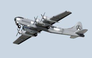 3d model b-29 superfortress