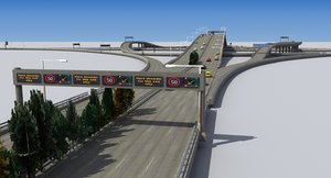3d model freeway intersection