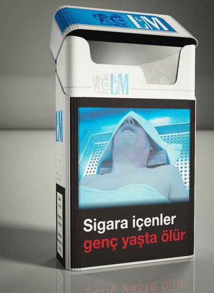 cigarette pack stick 3d 3ds