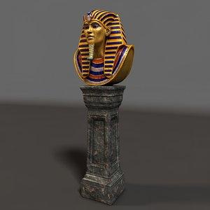 egypt tutanchamon 3d c4d