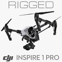 DJI Inspire 1 PRO rigged