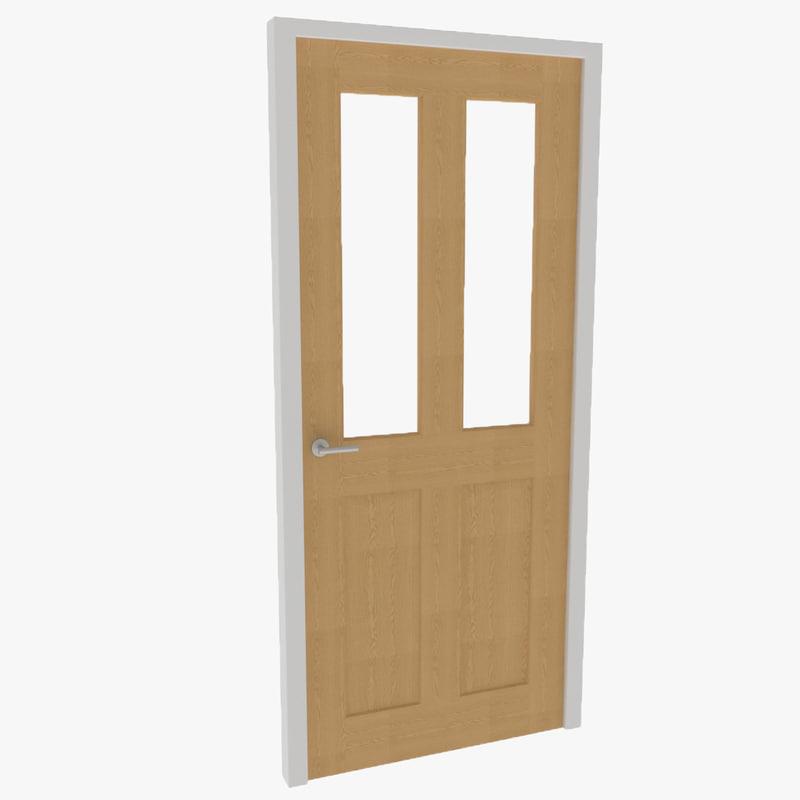 3d glazed interior door 01