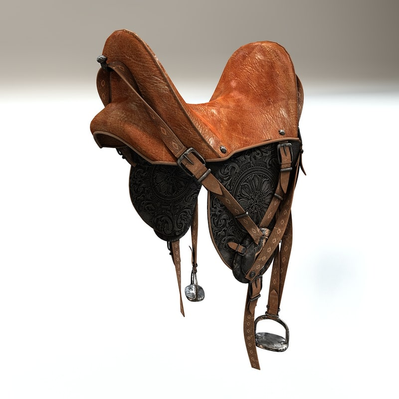 horse riding saddle 3d model