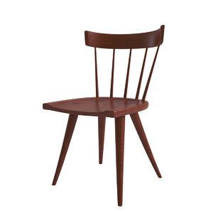 3d model paul mccobb spindle desk chair