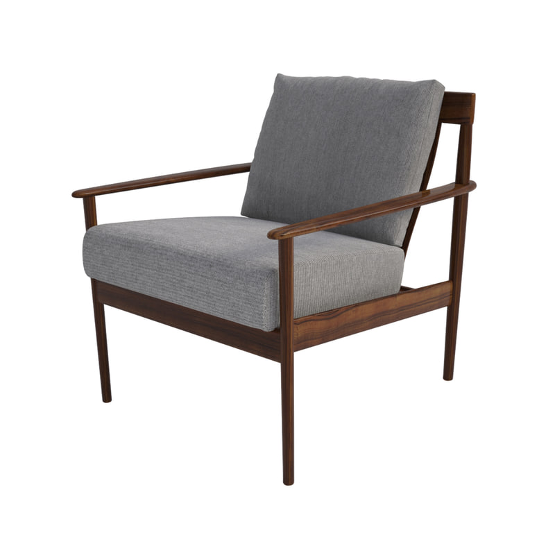 grete jalk danish lounge chair 3d max