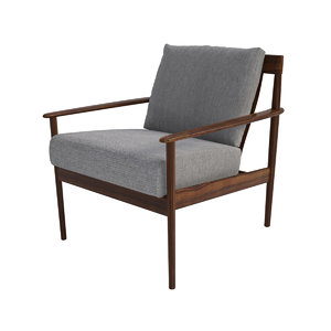 grete jalk danish lounge chair 3d max