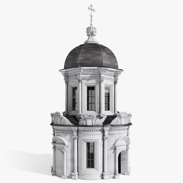 3d orthodox chapel model