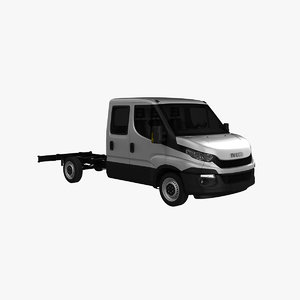 3d model iveco daily 2016 crew