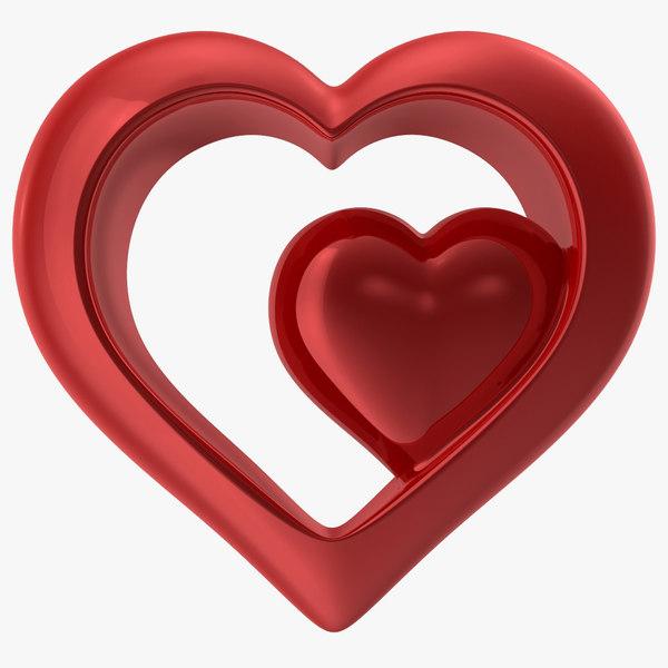 max heart shiny red