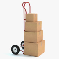 Hand Truck and Boxes