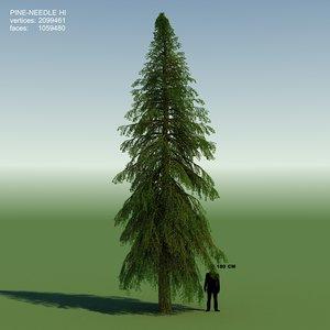 conifer cedrus tree 3d obj